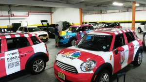 Cars wrapped for Barclay Premier League.