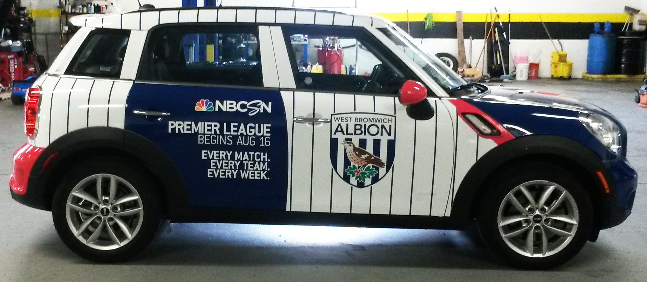 Car wrapped for Barclay Premier League.