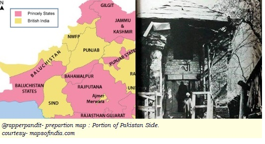 Partition, Hindu History, Pakistan Map