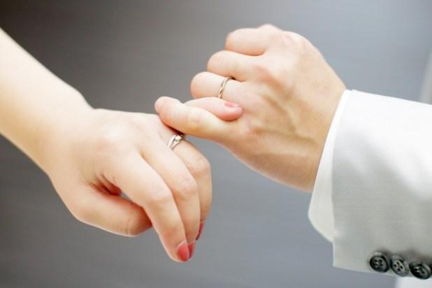 結婚記念日をイメージした写真