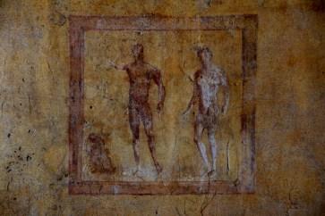 Casa delle Pareti Gialle (Ostia III,IX,12), stanza 8, Ercole ed Acheloo