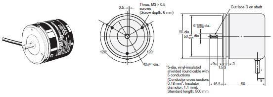E6D-C High-resolution Encoder with Diameter of 55 mm