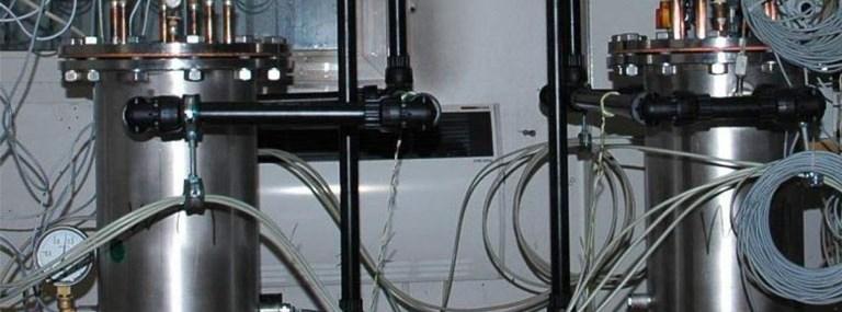 Bild des Versuchsstands zum Abgleich drei unterschiedlicher Modell-Sondenlängen