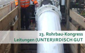 Bild Ankündigung 23. Rohrbau-Kongress in Weimar