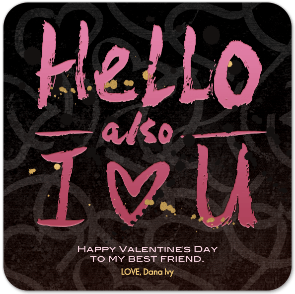 A V-day Card for your Valentine - via www.iadorewhatilove.com