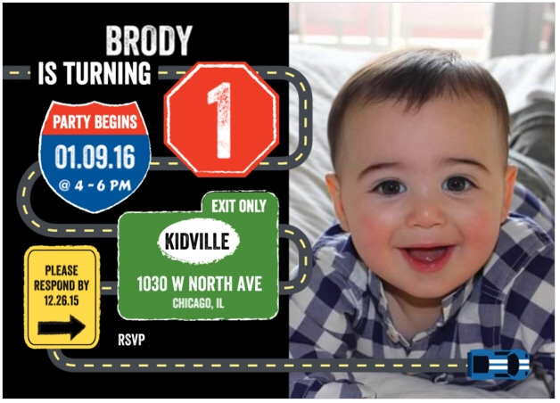 I Adore What I Love Blog // Brody's First Birthday Party - The Planning // Invitation 1 // www.iadorewhatilove.com #iadorewhatilove