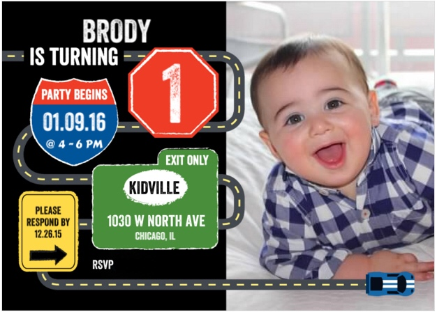 I Adore What I Love Blog // Brody's First Birthday Party - The Planning // Invitation 2 // www.iadorewhatilove.com #iadorewhatilove