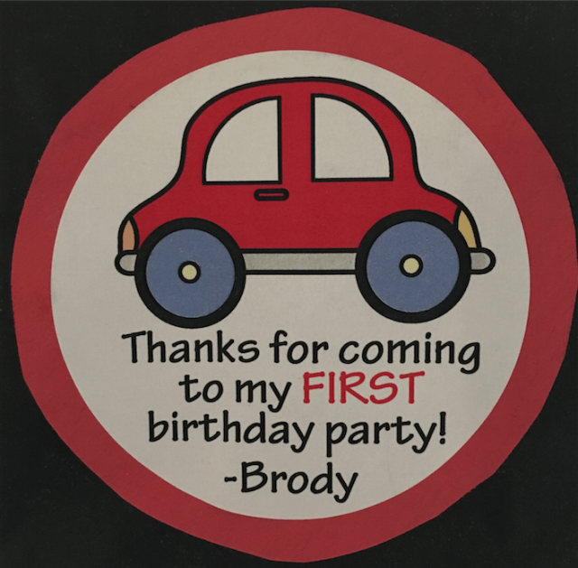 I Adore What I Love Blog // Brody's First Birthday The Goodie Bags // Etsy Thank you sticker // www.iadorewhatilove.com #iadorewhatilove