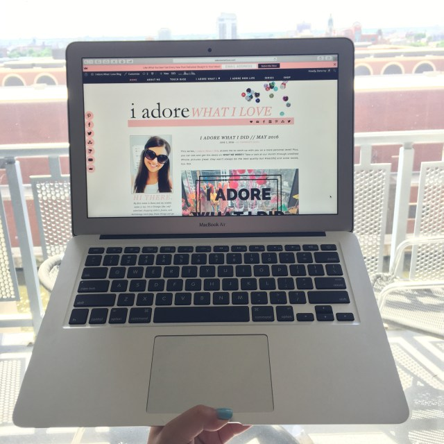 I Adore What I Love Blog // WEEKLY WINS #16 // New MacBook Air // www.iadorewhatilove.com #iadorewhatilove