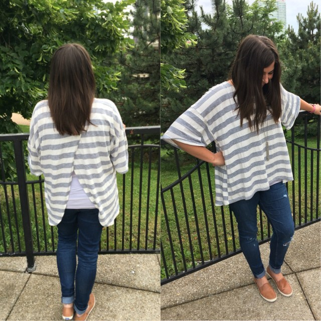 I Adore What I Love Blog // WEEKLY WINS #18 // High Low open back striped top // www.iadorewhatilove.com #iadorewhatilove