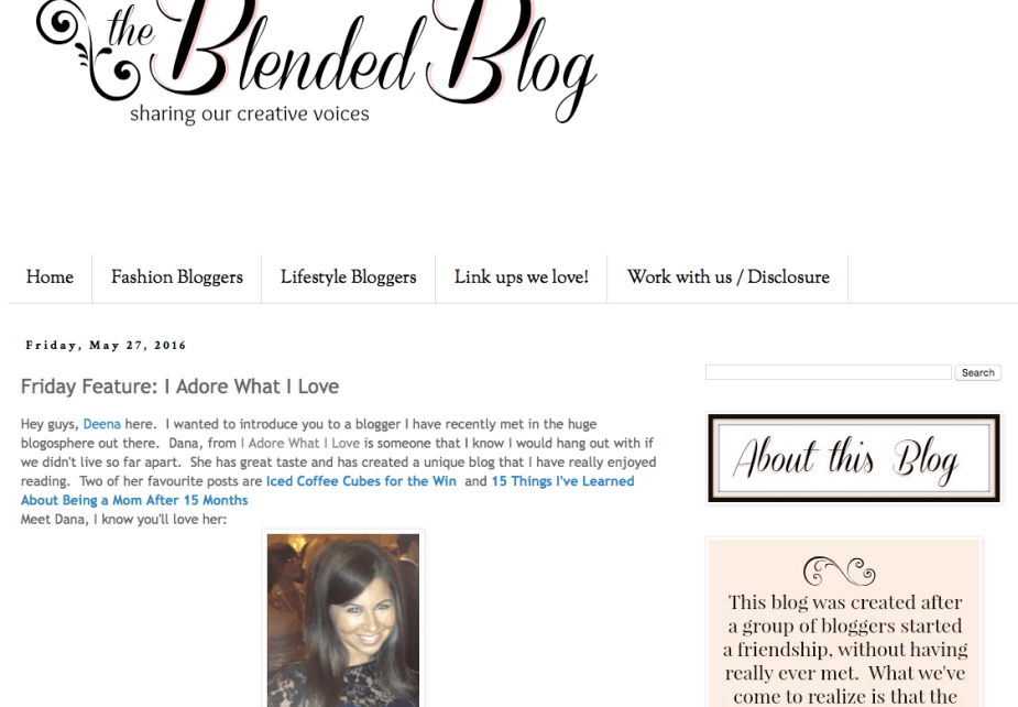I Adore What I Love Blog // WEEKLY WINS #16 // Feature on The Blended Blog // www.iadorewhatilove.com #iadorewhatilove