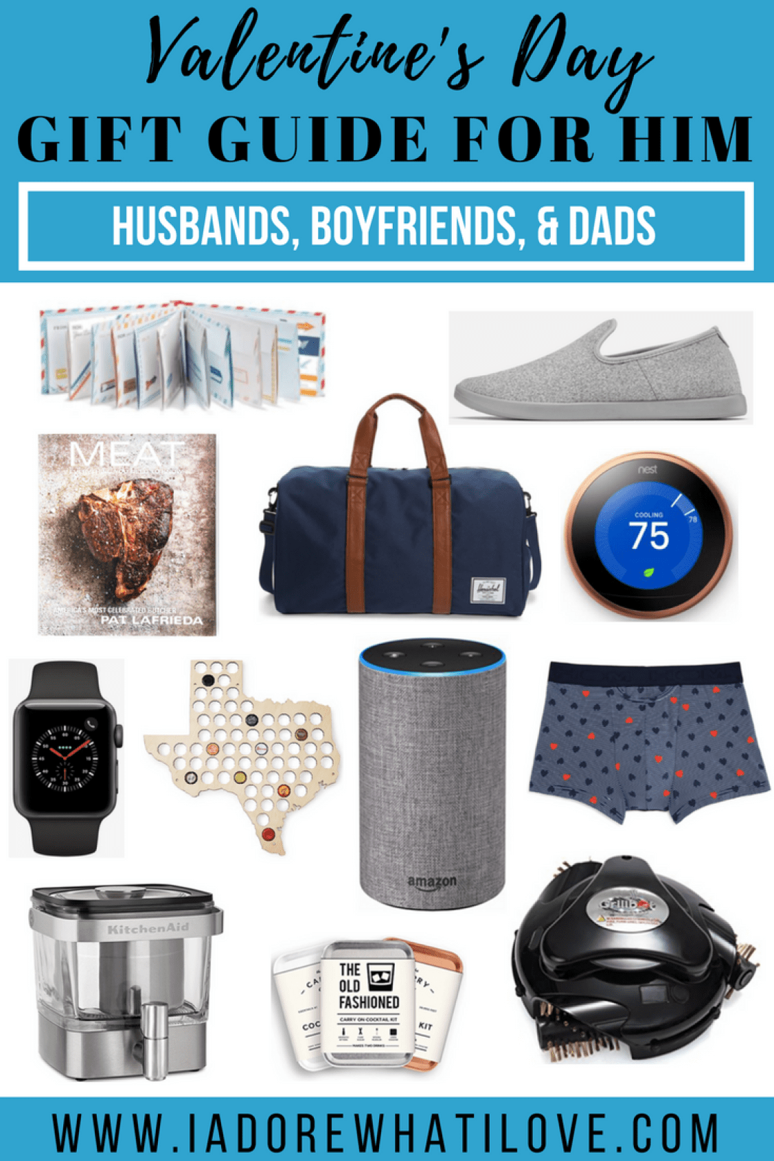 Valentine's Day Gift Guide for Him // I Adore What I Love Blog // www.iadorewhatilove.com #iadorewhatilove