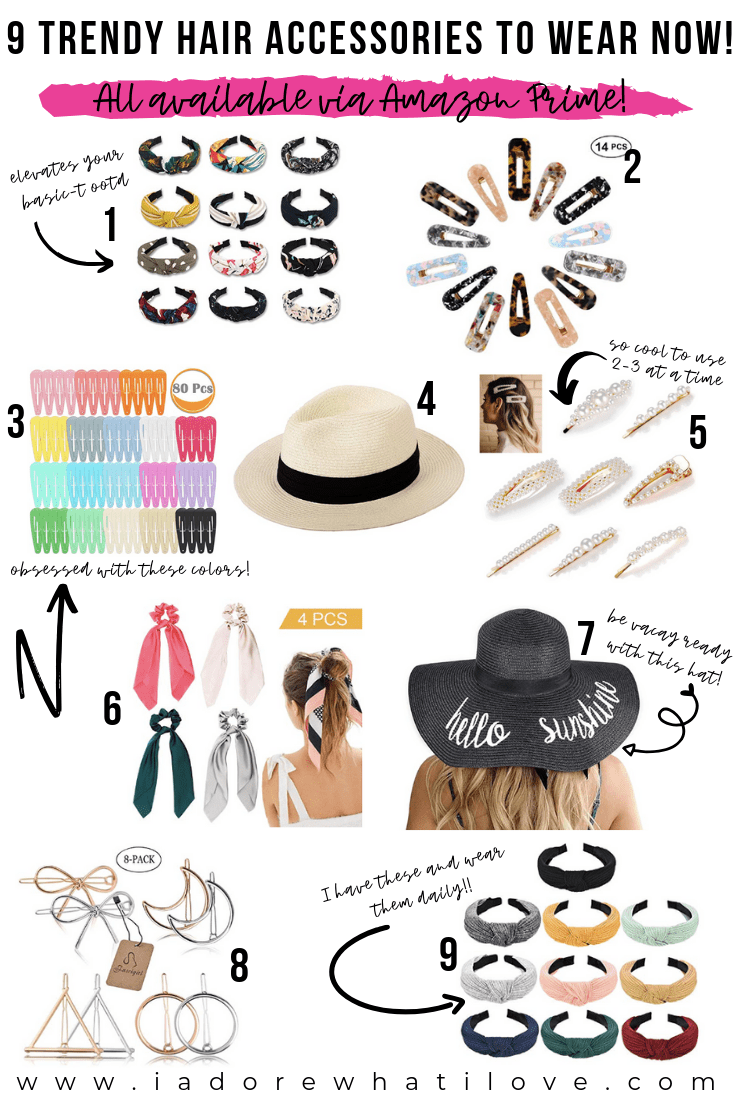 9 TRENDY HAIR ACCESSORIES TO WEAR NOW! :: I Adore What I Love Blog :: www.iadorewhatilove.com #iadorewhatilove