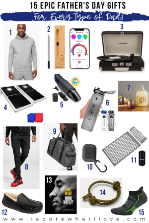 Not sure what to buy the dads in your life for Father's Day this year? Look no further!! Check out my epic gift guide featuring 15 perfect gifts!