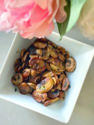 These sauteed mushrooms are restaurant-quality, will only take 10 minutes to make & are SO delicious!! They will turn mushroom haters into mushroom cravers!