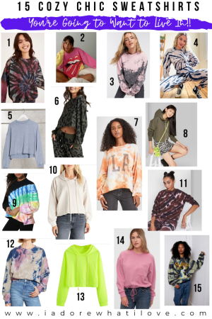 Can't. Stop. Wearing. Sweatshirts. Sharing 15 cozy chic sweatshirts you're going to want to LIVE in! Cropped, hooded, oversized and tie-dye!