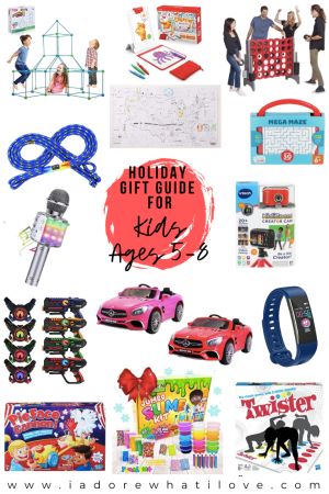 Shopping for kids ages 5-8 this holiday season? Look no further! This gift guide includes something for everyone + each gift is awesome!