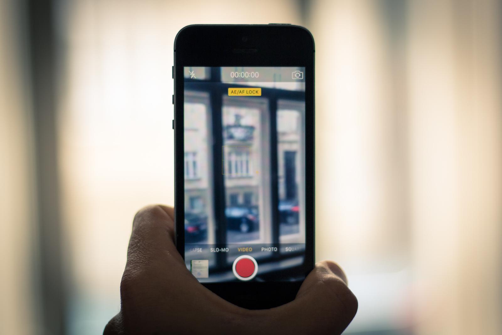 iPhone Kamera aktiv hochkant