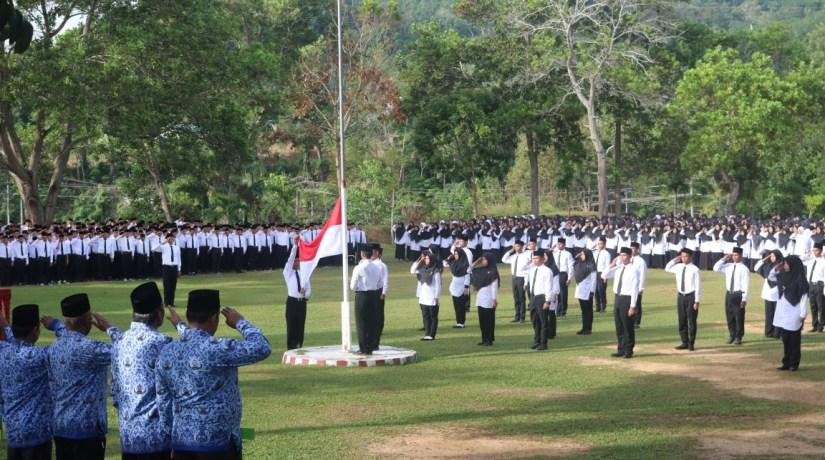 HUT Ke-72 Republik Indonesia, Civitas Akademika IAIN Padangsidimpuan Gelar Upacara