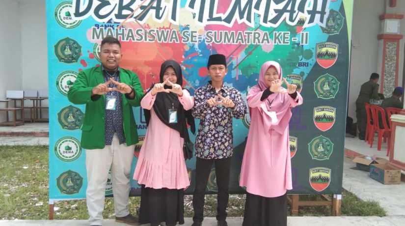 Mahasiswa FEBI IAIN Padangsidimpuan, Raih The Best Speaker Lomba Debat Ilmiah se-Sumatra 2019