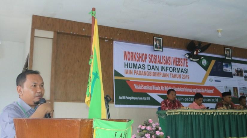 Humas Gelar Sosialisasi Website IAIN Padangsidimpuan