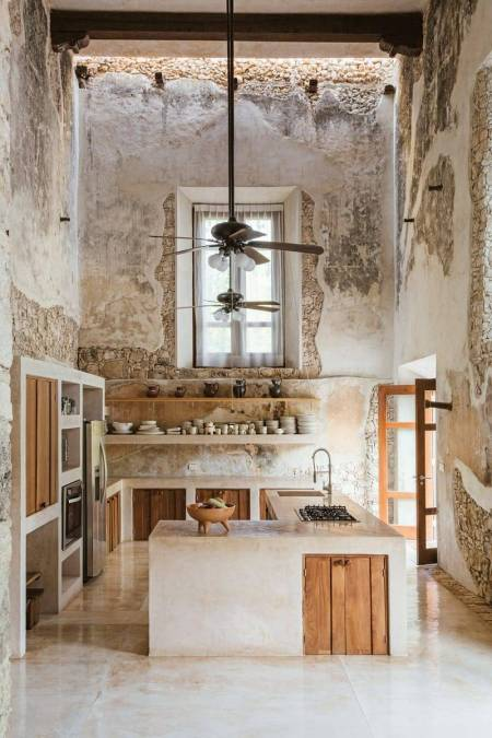 Rustic luxe kitchen