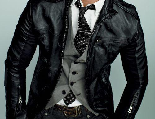 Formal leather mash-up