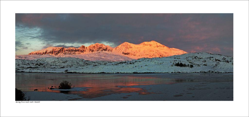 NWP_34_07  Last light on a winter's day, Quinag, Assynt