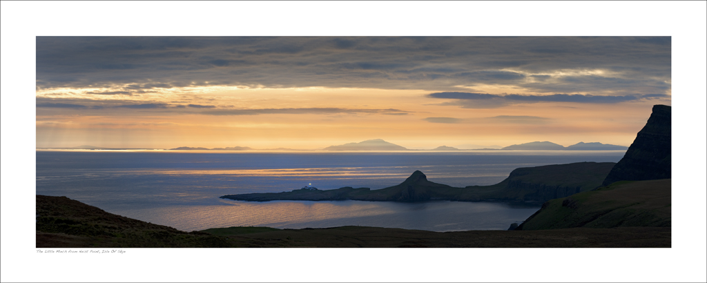 NWP_40_06. The Outer Hebrides and Little Minch from Neist Point, Isle of Skye