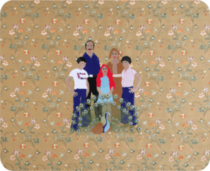 Raed Yassin, 'Family Portrait with Peacock'