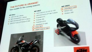 KTM product catalogue road map for 2012-2013-2014