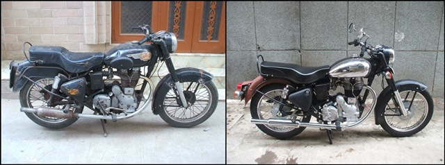 India on an 1965 Royal Enfield