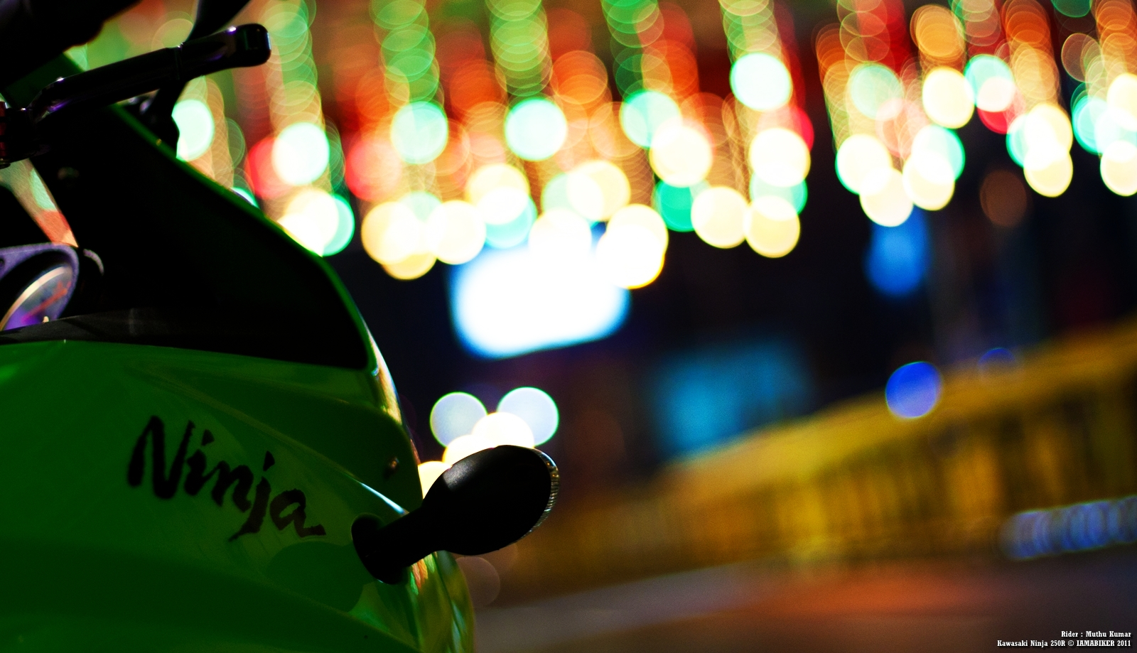 Ninja 250R wallpaper - Happy Diwali 01 IAMABIKER