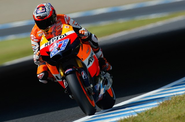 Stoner Breaks record at Motegi Qualifying