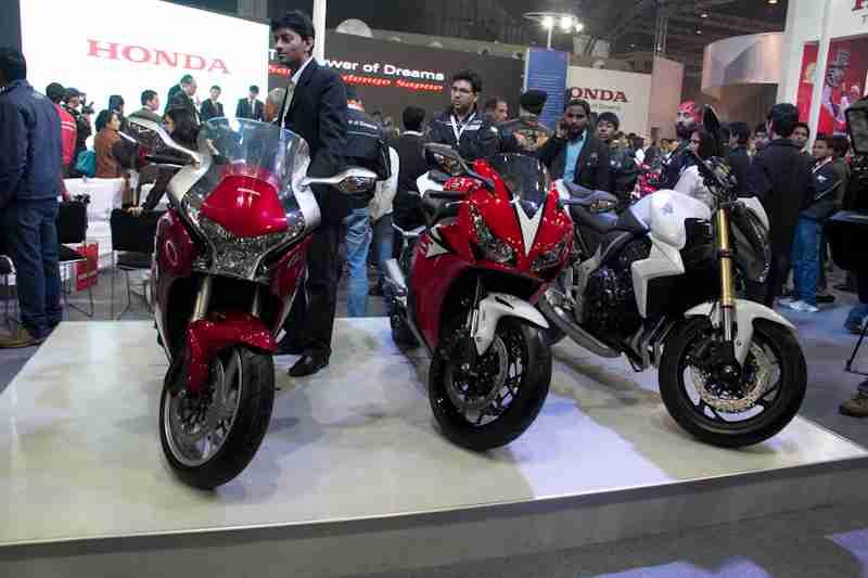 Honda Motorcycles Auto Expo 2012 India -41