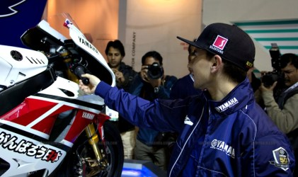 Jorge Lorenzo Auto Expo 2012 India 02