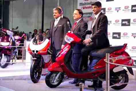 Mahindra 2 wheelers Auto Expo 2012