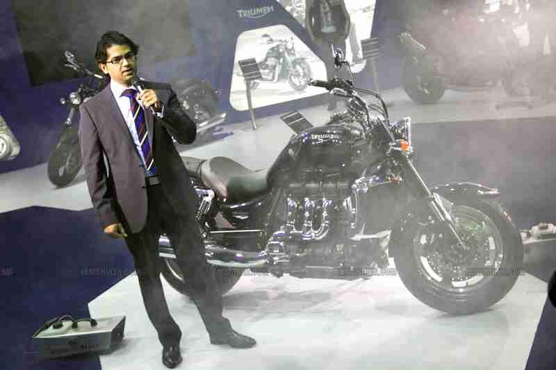 Triumph Motorcycles Auto Expo 2012 India 01