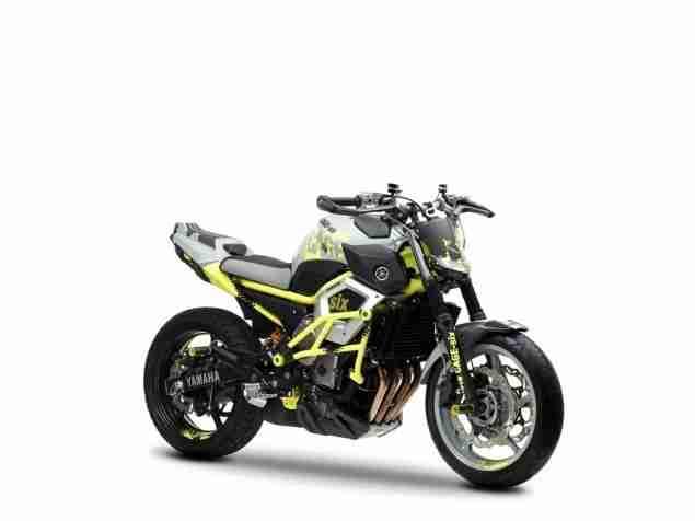 yamaha cage six stunt motorcycle xj6 - 02