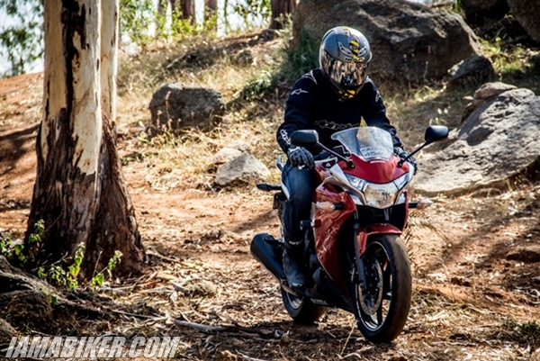 Honda CBR250R off-roading