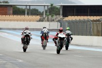 Michael Schumacher, Pol Espargaro, Randy Mamola, John McGuinness and Keith Flint at the Paul Ricard circuit - 05