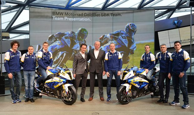 2013 BMW Motorrad GoldBet WSBK team presentation