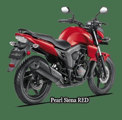 pearl-red honda cb trigger