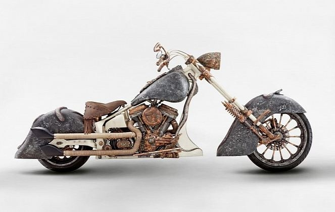 gold motorcycle - 01