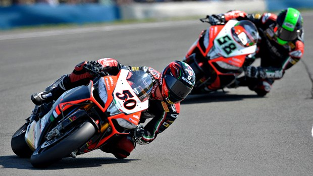 sylvain guiltoli eugene laverty wsbk donington