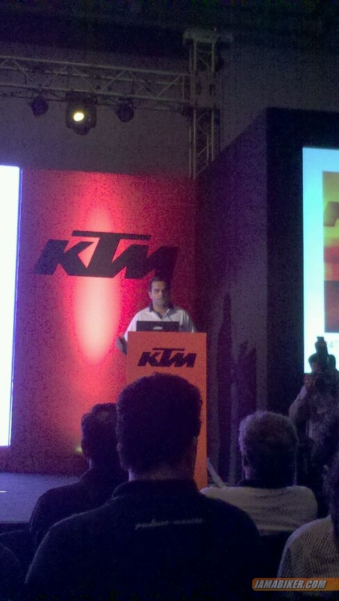 Gaurav Rathore at KTM Duke 390 launch