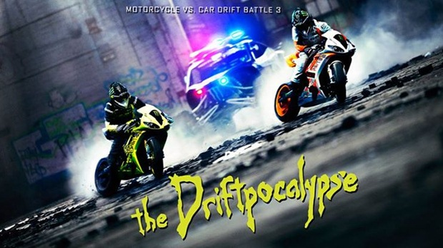 ICON Bike vs Car drift battle v3 Driftpocalypse