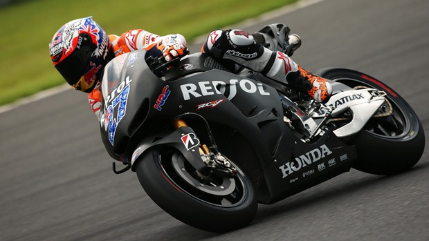 Casey Stoner tests the RC213V at Motegi