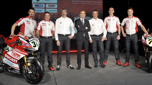 2014 Ducati WSBK Team Presented