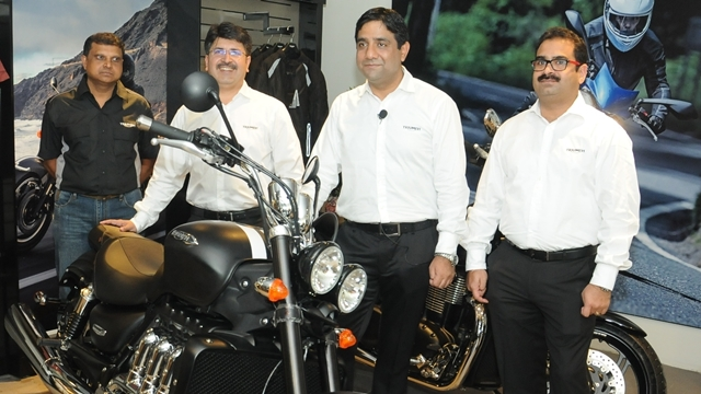 Triumph Motorcycles Bangalore showroom opens